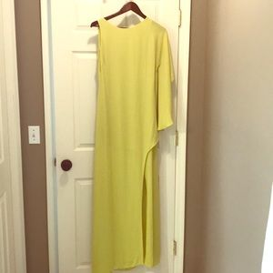BCBG Neon One- Sleeve Long Dress (size 4)